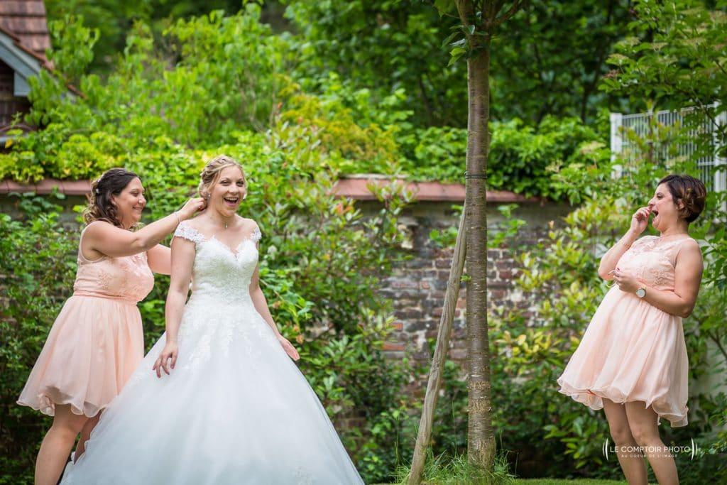 Mariage- La Ferme de Maubuisson - Verneuil en Halatte - Compiegne-Le Comptoir Photo - Photographe mariage oise beauvais-préparatifs mariée- rire-émotion-59