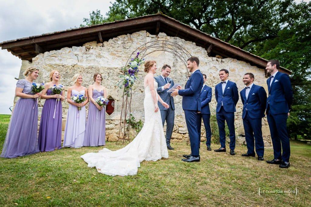Mariage- Chateau Lardier - Ruch - Photographe mariage oise beauvais - Aquitaine - Gironde -Bordeaux - Libourne - Le Comptoir Photo-photo-cérémonie laïque-émotion-naturel-rire-323