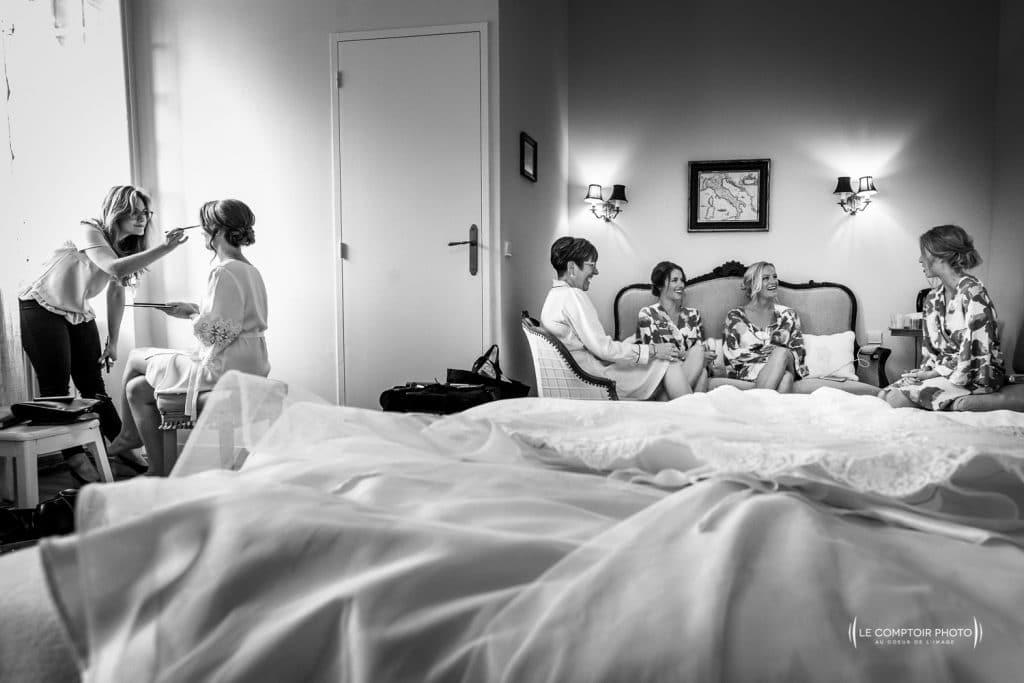 Mariage- Chateau Lardier - Ruch - Photographe mariage oise beauvais - Aquitaine - Gironde -Bordeaux - Libourne - Le Comptoir Photo-préparatifs de la mariée-filles d'honneur-émotion-naturel-rire-54