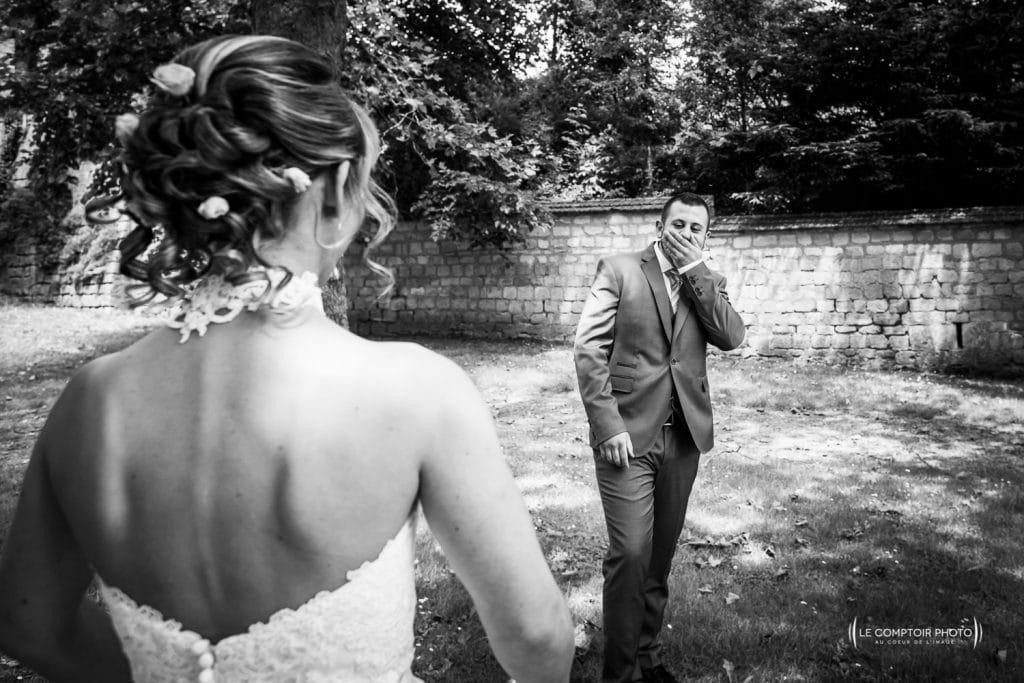 Mariage-saint leu d'esserent-Senlis-Chantilly-photographe mariage-oise-beauvais-compiegne-émotion-naturel-Le Comptoir Photo-rencontre-first look-apercu première fois-2