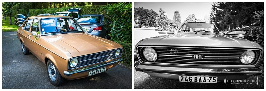 reportage photo mariage voiture ford