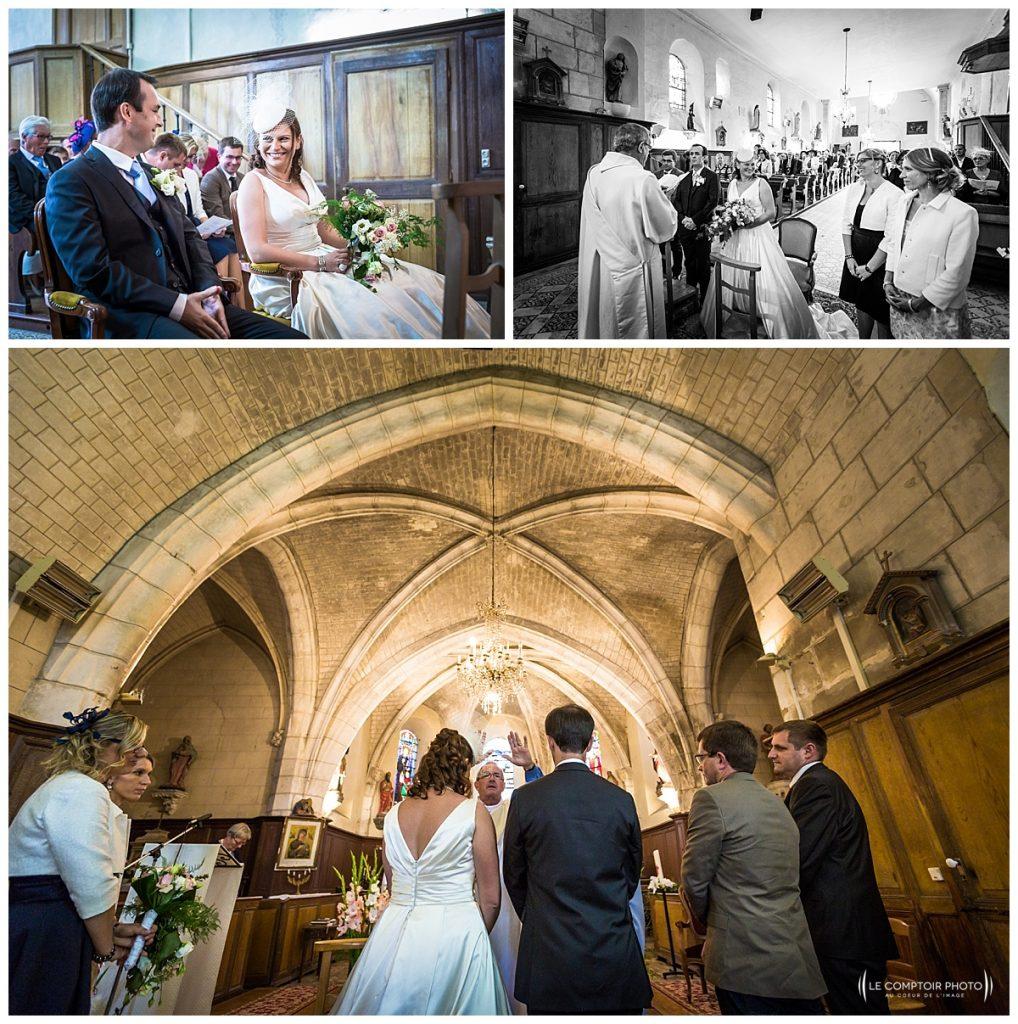 reportage photo mariage à l'église de warluis, proche de beauvais, regards des mariés