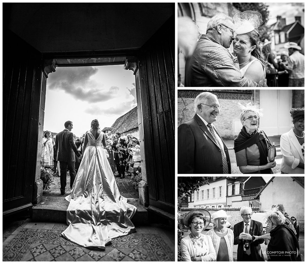 reportage photo mariage sortie église