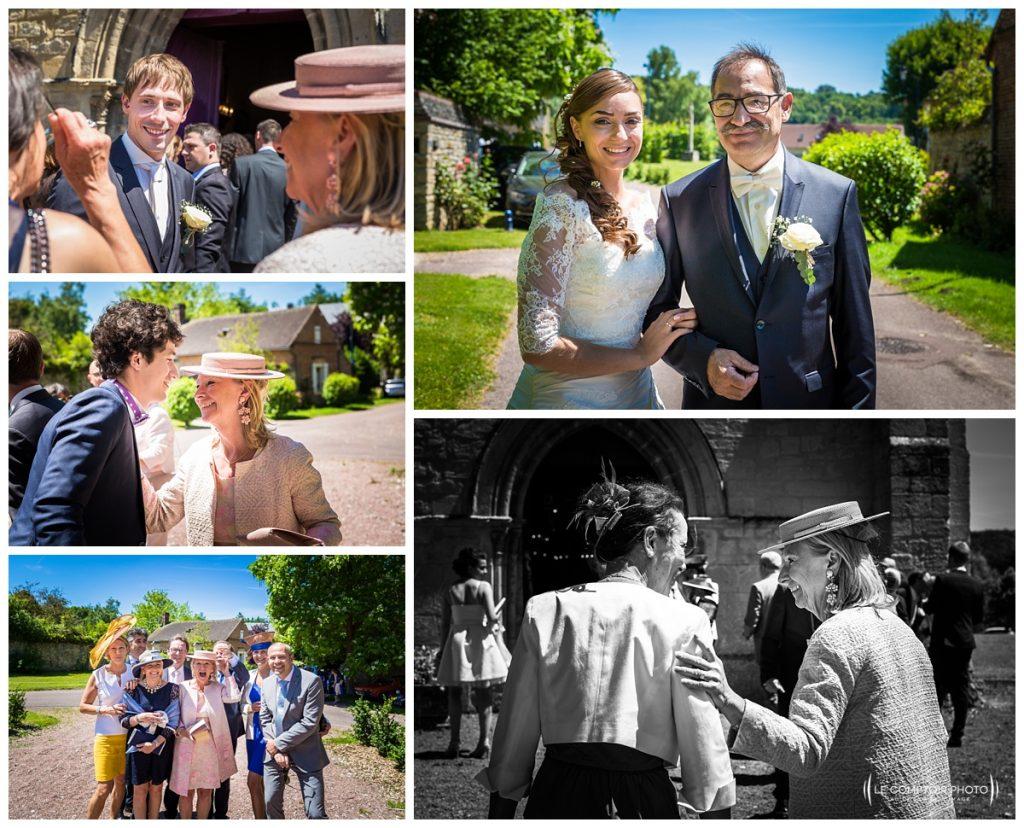 invités-mariée-marié- église Hondainville proche du chateau des saules_Ansacq_Le Comptoir Photo- Photographe oise mariage
