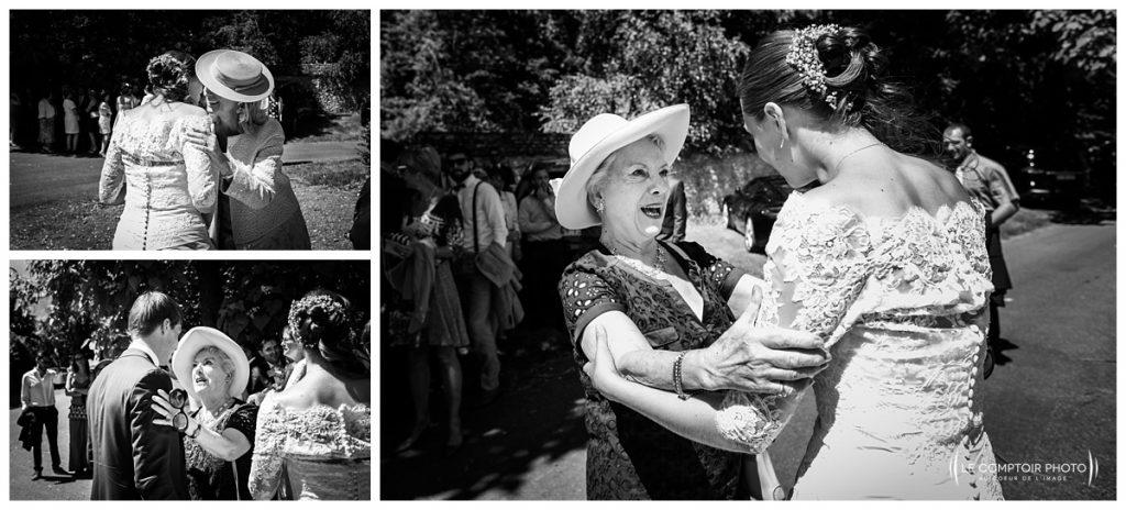 embrassade invité église Hondainville proche du chateau des saules_Ansacq_Le Comptoir Photo- Photographe oise mariage