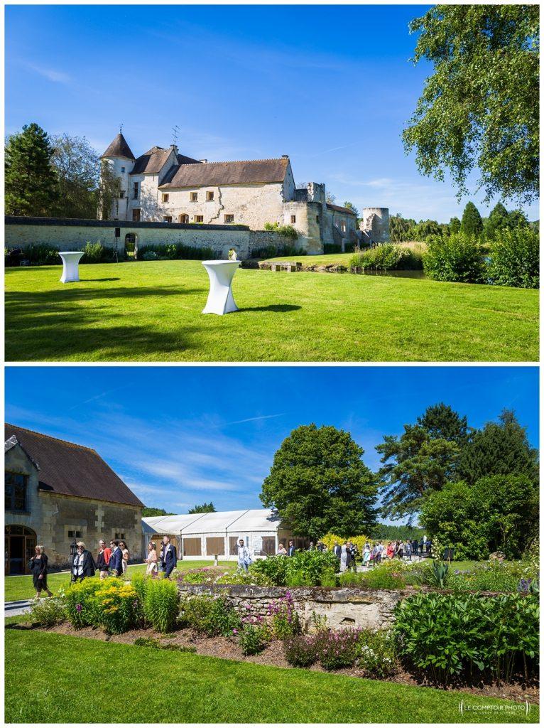 arrivée au chateau des saules_Ansacq_Le Comptoir Photo- Photographe oise mariage