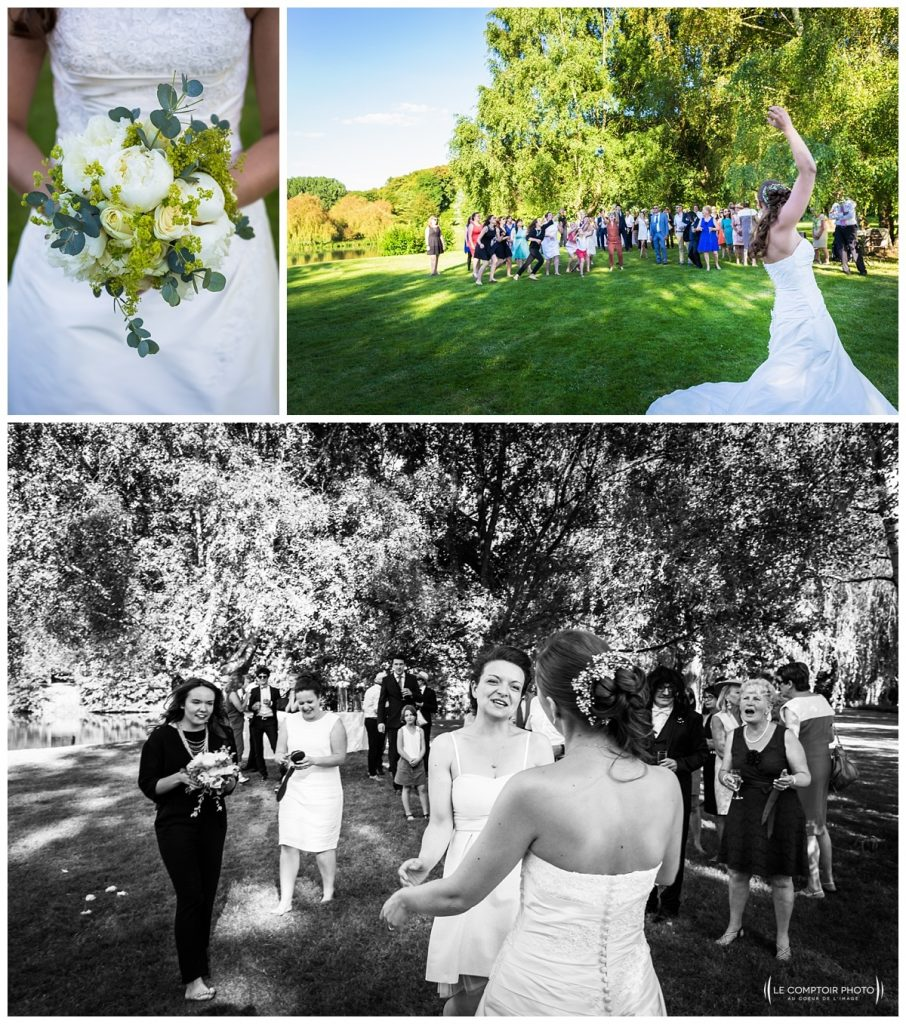 lancé du bouquet-chateau des saules_Ansacq_Le Comptoir Photo- Photographe oise mariage