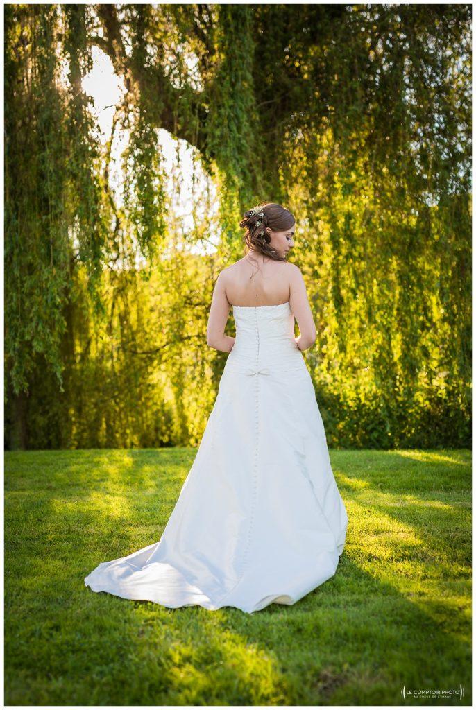 robe de la mariée-chateau des saules_Ansacq_Le Comptoir Photo- Photographe oise mariage