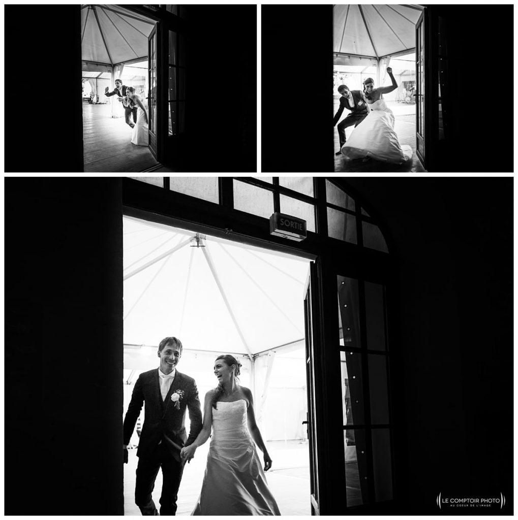 arrivée des mariés dans le lieu de réception-chateau des saules_Ansacq_Le Comptoir Photo- Photographe oise mariage