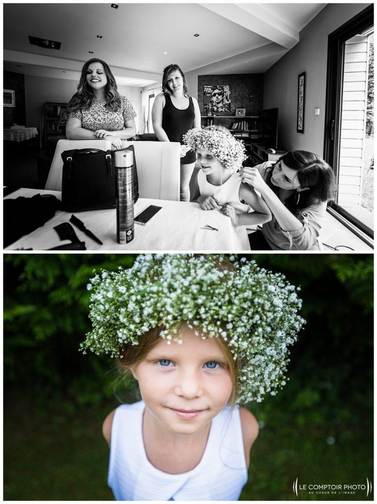 préparatifs des invités famille coiffure chez ses parents à choisy au bac proche compiegne-Château Vic-sur-Aisne-Le Comptoir Photo-Photographe mariage oise-beauvais-Picardie-Hauts de france