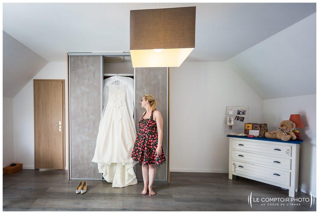 préparatifs de la mariée robe, chambre chez ses parents à choisy au bac proche compiegne