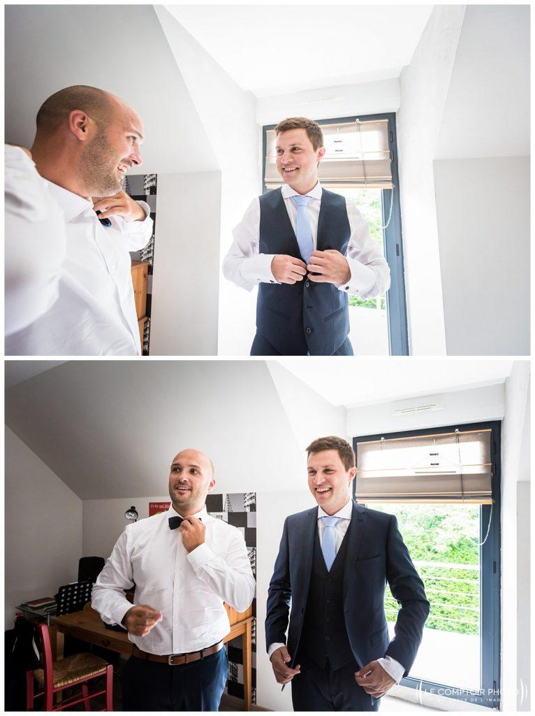préparatifs du marié, costume_chaussure avec ses amis_choisy au bac_Le Comptoir Photo_Photographe mariage oise_Beauvais