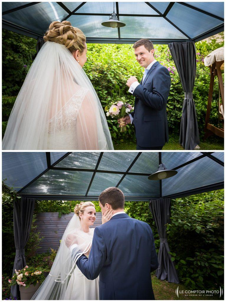 découverte des mariés_réaction_émotion_choisy au bac_Le Comptoir Photo_Photographe mariage oise_Beauvais