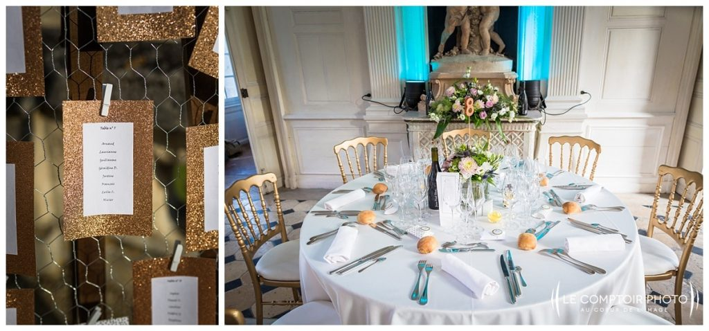 salle de réception_détails_décoration_chateau de vic sur aisne_vic sur aisne_Le Comptoir Photo_Photographe mariage oise_Beauvais