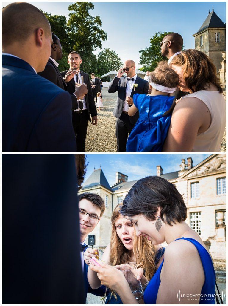 vin d'honneur_photos sur le vif_chateau de vic sur aisne_vic sur aisne_Le Comptoir Photo_Photographe mariage oise_Beauvais