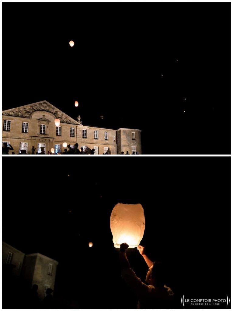 soirée_lancé de lanternes_lampions_célestes_volantes_invités_photos sur le vif_chateau de vic sur aisne_vic sur aisne_Le Comptoir Photo_Photographe mariage oise_Beauvais-picardie-hauts de france