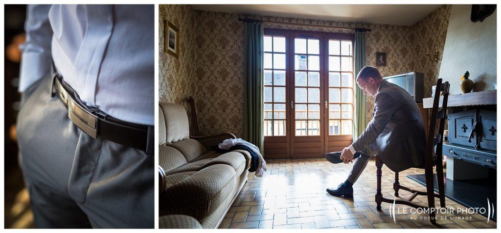 Mariage-préparatifs du marié-Abbaye de royaumont_asnieres sur oise-Le Comptoir Photo-Photographe mariage oise-Beauvais