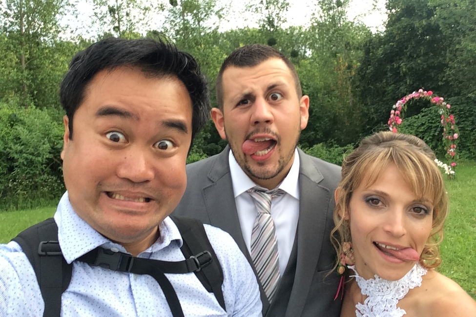 "alt=""Photographe Oise Beauvais - Selfi maries M&J -Hong-Phuc BUI"""