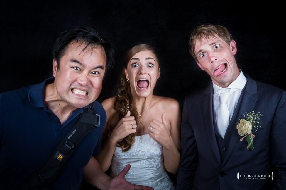 Selfie mariés-photographe mariage bretagne-le comptoir photo