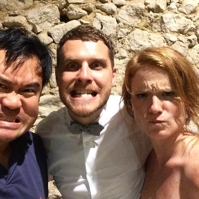 Selfy avec mes maris RampA mariage maries grimace fun bordeauxhellip