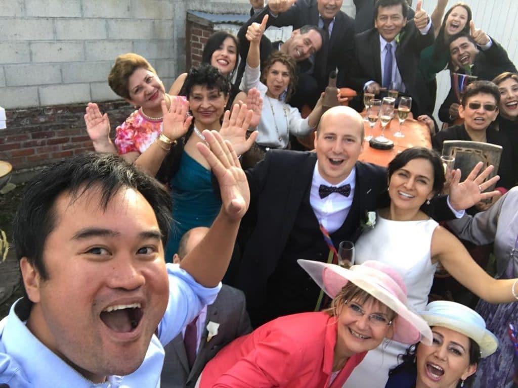 selfie - mariés - le comptoir photo - photographe mariage