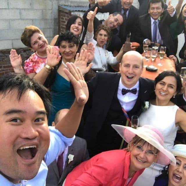 Selfy avec mes maris et invits  caroetfabien selfy colombiahellip