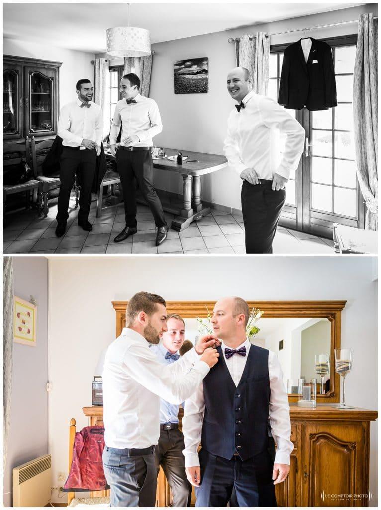 Ambiance décontractée entre amis et témoins - Mariage-Carolina-Fabien-Manoir-de-Chantilly_Gouvieux_Photographe-mariage-Oise_photographe-oise_Le-Comptoir-Photo