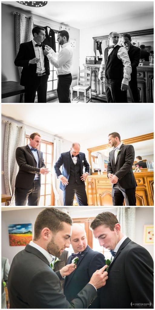 préparatifs du mariés avec ses amis - témoins - Mariage-Carolina-Fabien-Manoir-de-Chantilly_Gouvieux_Photographe-mariage-Oise_photographe-oise_Le-Comptoir-Photo