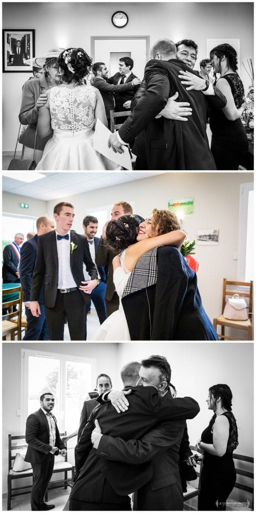 Embrassade de la famille colombienne à la mairie - naturel - Mariage-Carolina-Fabien-Manoir-de-Chantilly_Gouvieux_Photographe-mariage-Oise_photographe-oise_Le-Comptoir-Photo