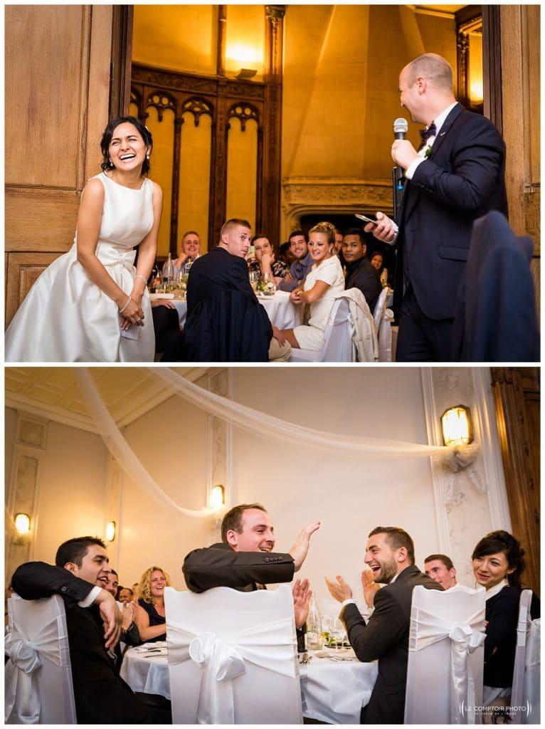 discours du marié - rire de la marié - rire des témoins - invités - Mariage-Carolina-Fabien-Manoir-de-Chantilly_Gouvieux_Photographe-mariage-Oise_photographe-oise_Le-Comptoir-Photo