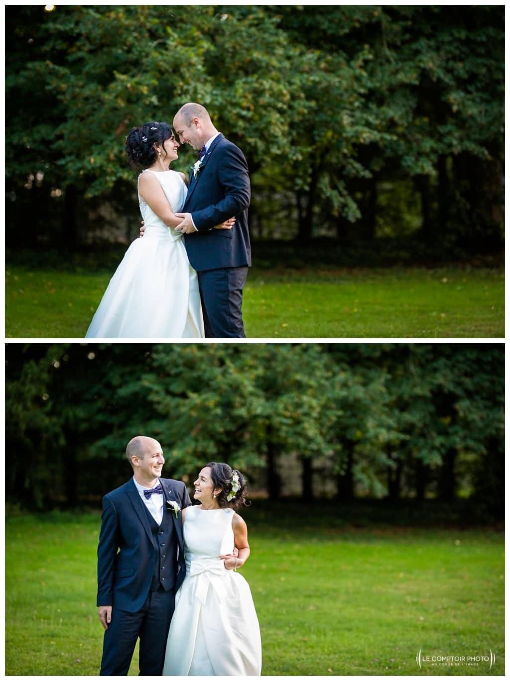 Séance photo couple mariage - coucher du soleil - Manoir de Chantilly- Gouvieux- calin - rigolade-souvenir-Mariage-Carolina-Fabien-Manoir-de-Chantilly_Gouvieux_Photographe-mariage-Oise_photographe-oise_Le-Comptoir-Photo