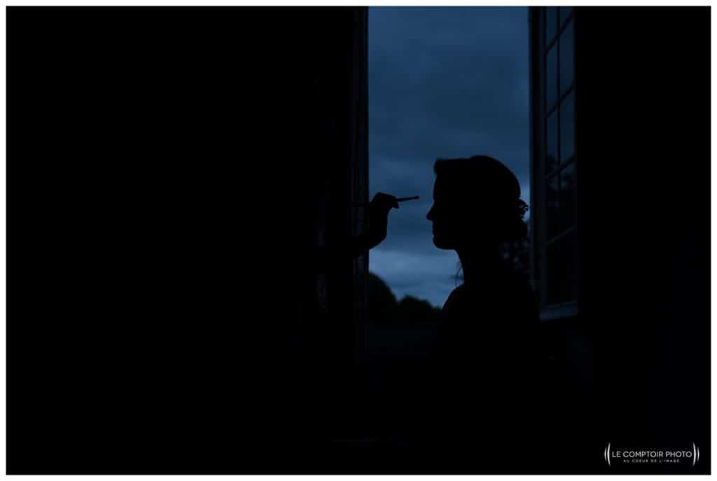 Mariage-Chateau Lardier-Ruch-Photographe mariage bordeaux-aquitaine-gironde-dordogne-libourne-bergerac-franco-canadien-americain-Le Comptoir Photo_Photographe mariage France Oise - effet ombre chinoise - maquillage