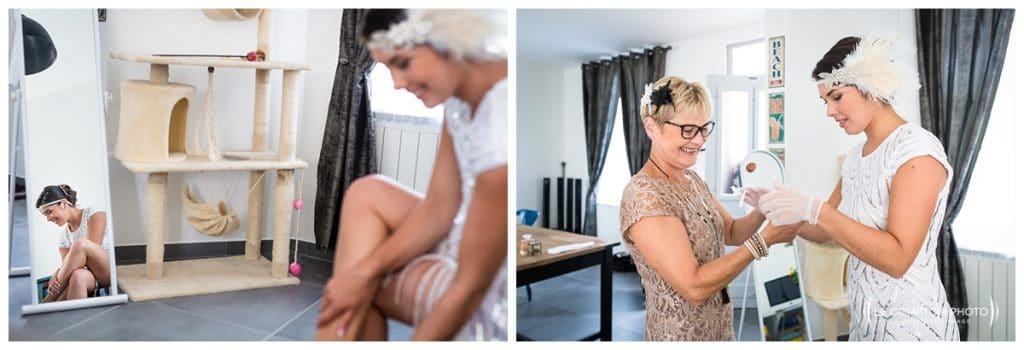 Reportage photo mariage à la Grange des Mollières dans les Yvelines-Photographe mariage Ile-de-France-paris-Oise-Le Comptoir Photo-mise en robe-accessoire