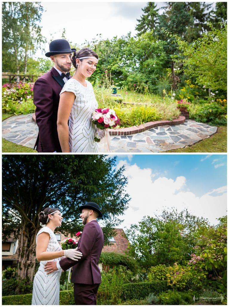 Reportage photo mariage à la Grange des Mollières dans les Yvelines-Photographe mariage Ile-de-France-paris-Oise-Le Comptoir Photo-découverte-fisrt look-jardin