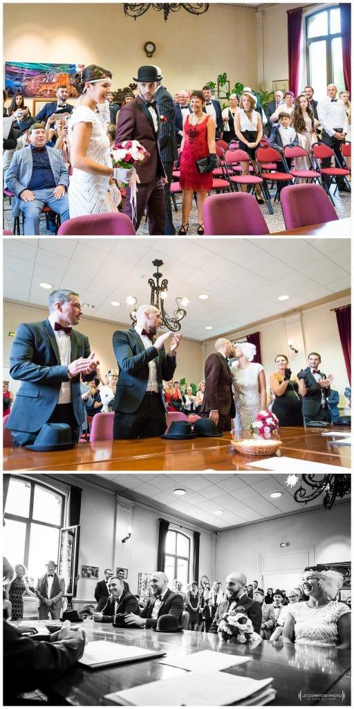 Reportage photo mariage à la Grange des Mollières dans les Yvelines-Photographe mariage Ile-de-France-paris-Oise-Le Comptoir Photo-entrée-cérémonie civile