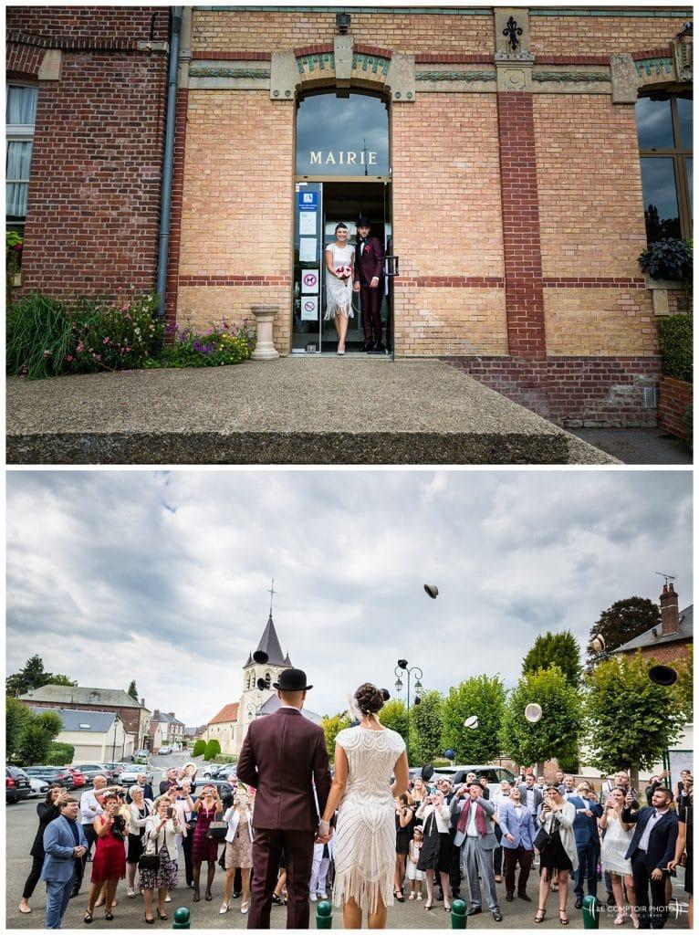 Reportage photo mariage à la Grange des Mollières dans les Yvelines-Photographe mariage Ile-de-France-paris-Oise-Le Comptoir Photo-sortie de la mairie