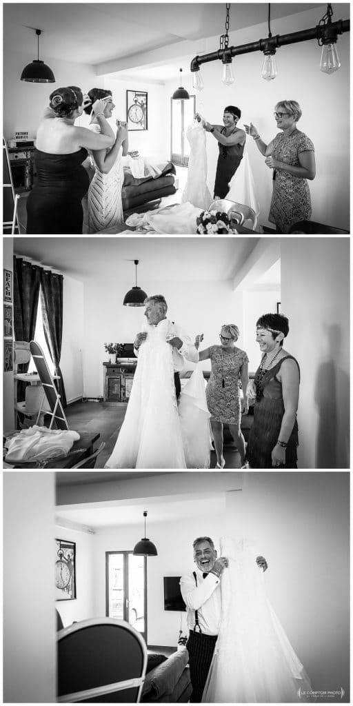 Reportage photo mariage à la Grange des Mollières dans les Yvelines-Photographe mariage Ile-de-France-paris-Oise-Le Comptoir Photo-changement de robe