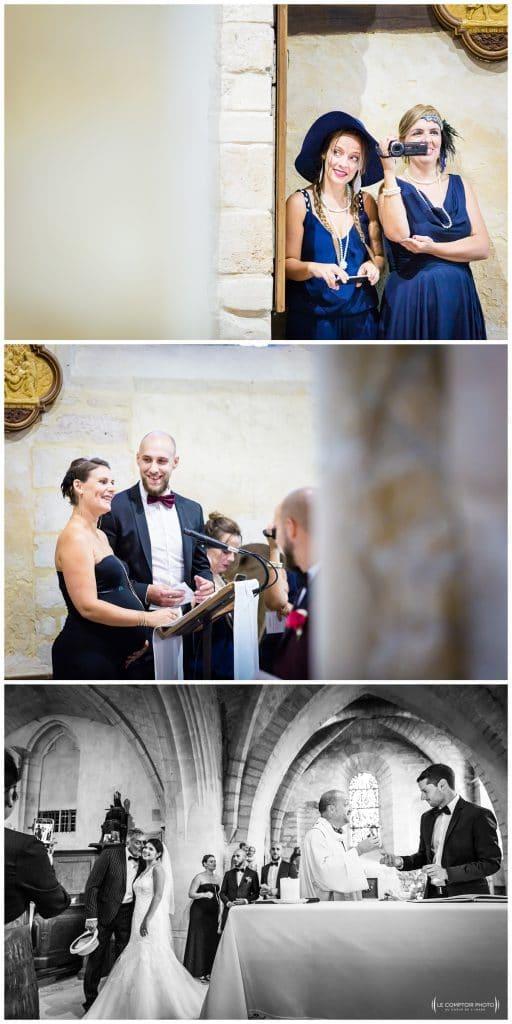 Reportage photo mariage à la Grange des Mollières dans les Yvelines-Photographe mariage Ile-de-France-paris-Oise-Le Comptoir Photo-église