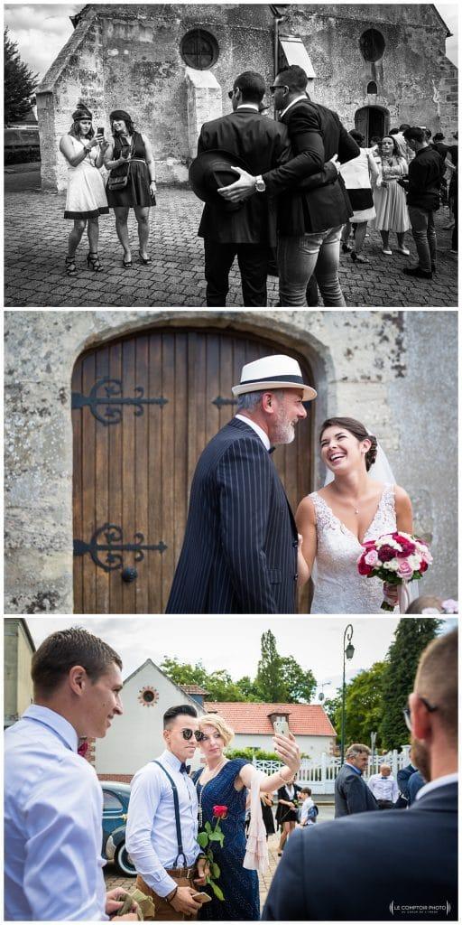 Reportage photo mariage à la Grange des Mollières dans les Yvelines-Photographe mariage Ile-de-France-paris-Oise-Le Comptoir Photo-photos des invités sur le vif
