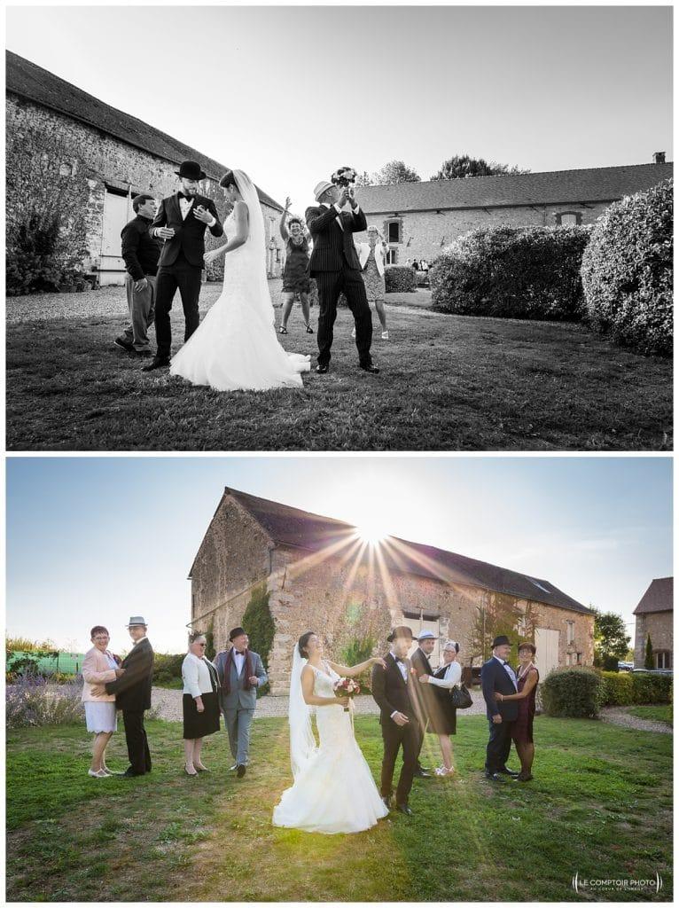 Reportage photo mariage à la Grange des Mollières dans les Yvelines-Photographe mariage Ile-de-France-paris-Oise-Le Comptoir Photo-rire photo groupe