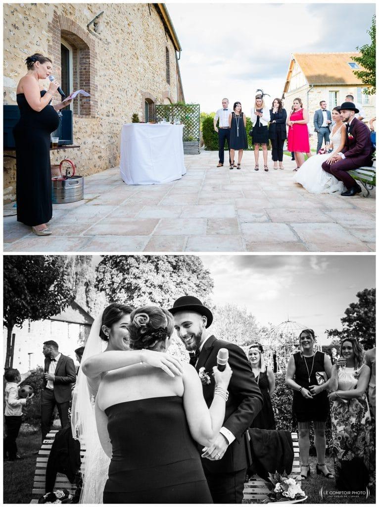 Reportage photo mariage à la Grange des Mollières dans les Yvelines-Photographe mariage Ile-de-France-paris-Oise-Le Comptoir Photo-discours