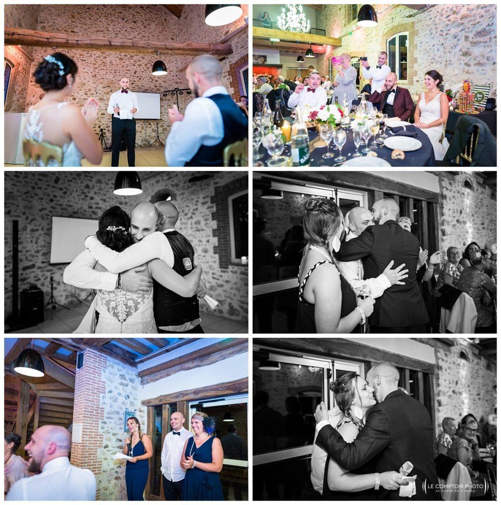 Reportage photo mariage à la Grange des Mollières dans les Yvelines-Photographe mariage Ile-de-France-paris-Oise-Le Comptoir Photo-discours-embrassade