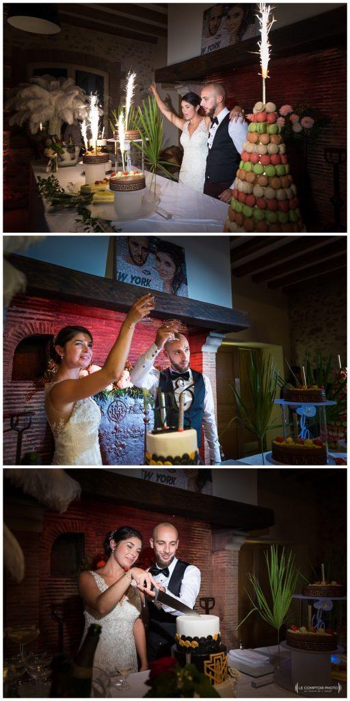 Reportage photo mariage à la Grange des Mollières dans les Yvelines-Photographe mariage Ile-de-France-paris-Oise-Le Comptoir Photo-arrivée du gâteau