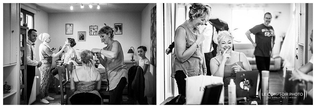 préparatifs de la mariée et de sa maman photographe beauvais