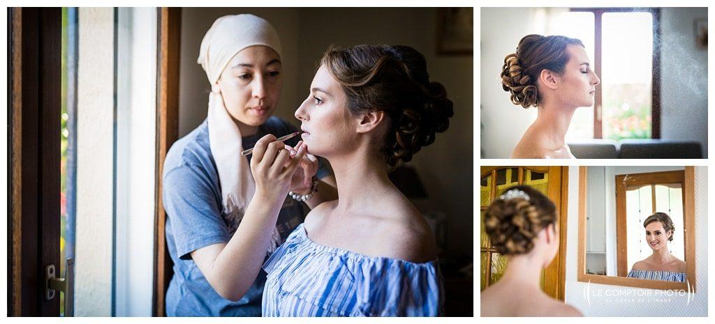 préparatifs de la mariée - maquillage- le comptoir photo - photographe beauvais - photographe mariage oise