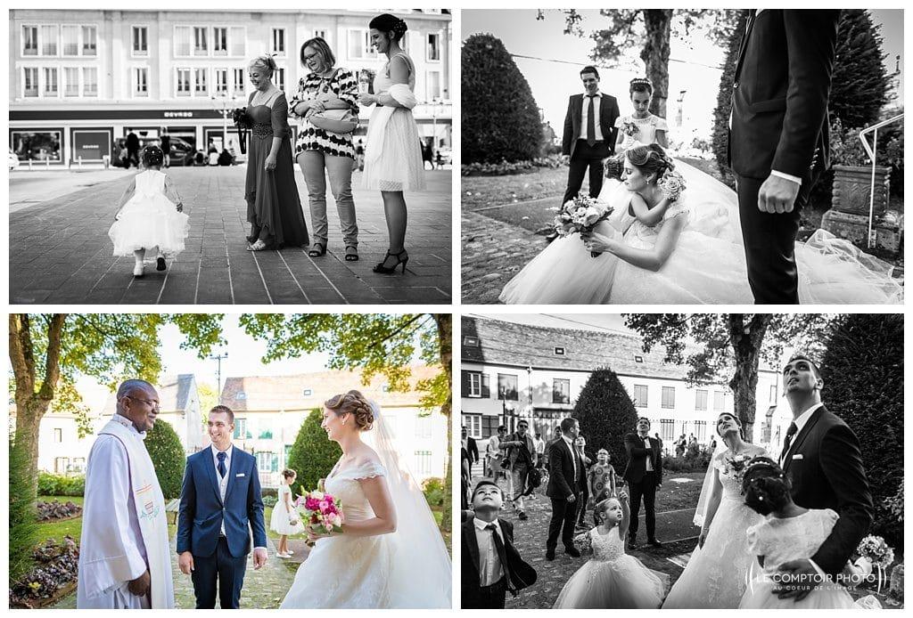 photographe beauvais-photos naturelles-spontanée des mariés et invités-le comptoir photo