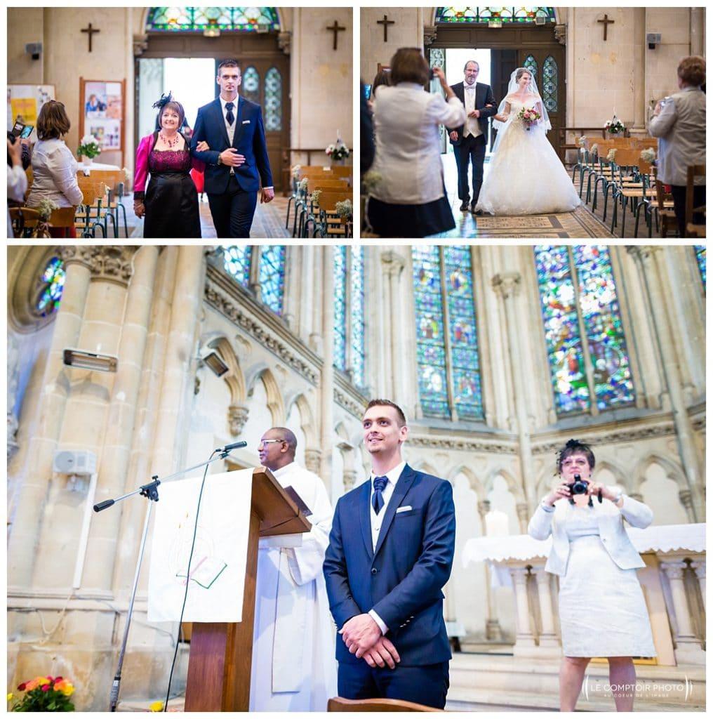 Entrée de l'église saint jacques - mariage - photographe beauvais