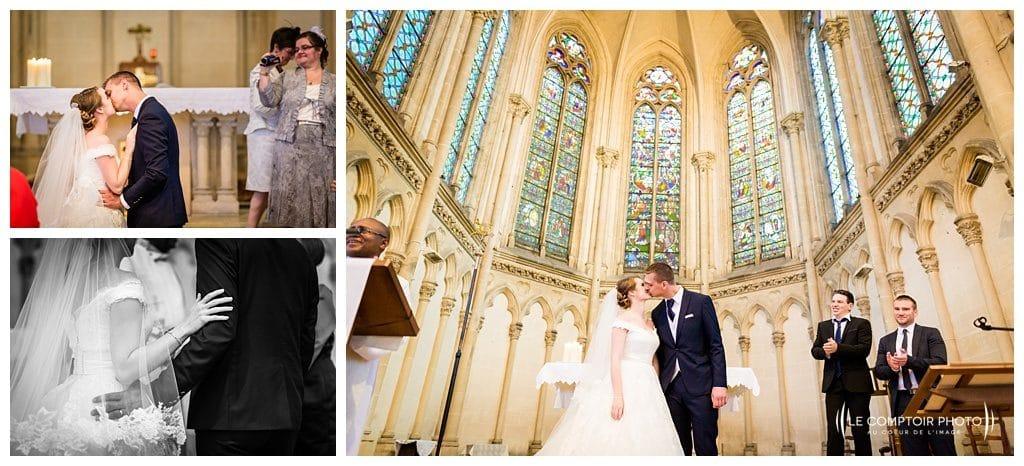 photographe beauvais - embrassade des mariés