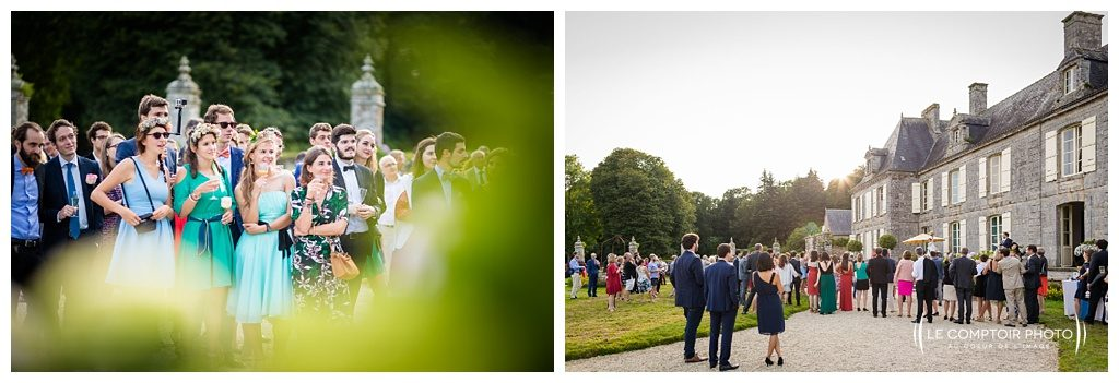 reportage mariage-chateau guilguiffin-bretagne-wedding in brittany-finistere-photographe saint brieuc côtes d'armor-le comptoir photo-ecoute-invites-bouquet