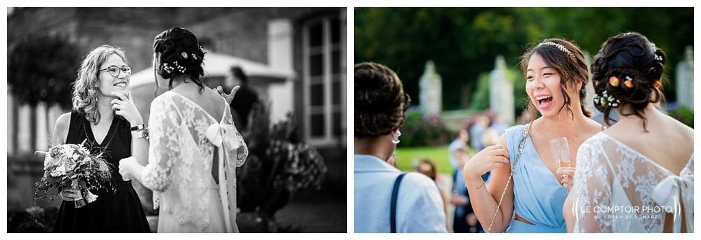 reportage mariage-chateau guilguiffin-bretagne-wedding in brittany-finistere-photographe saint brieuc côtes d'armor-le comptoir photo-rire-discussion